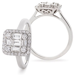 Fancy Halo Diamond Ring - 1