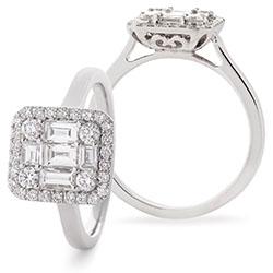 Fancy Halo Diamond Ring - 1