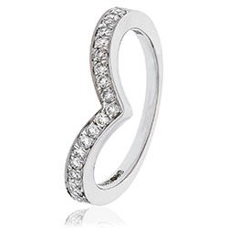 Diamond Wishbone Ring 2.4mm width - 1