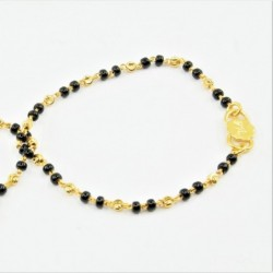 Pair of Black and Gold Bead Baby Bracelets - DMS-C2-B30 - 2