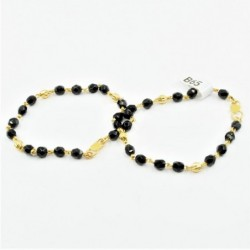 Pair of Black and Gold Bead...