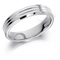Double line wedding band - 1