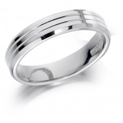 Double line wedding band