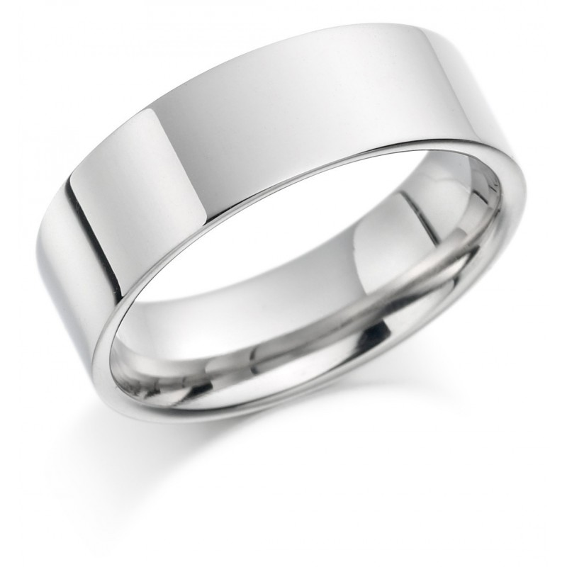 Flat wedding band