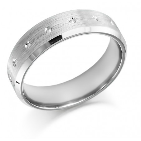 Diamond cut wedding band - 1
