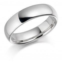 Gents white gold wedding band - 1