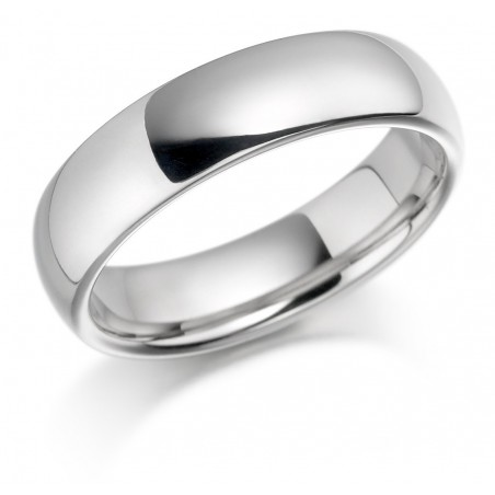 Gents white gold wedding band
