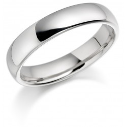 Ladies white gold wedding band