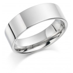 Flat wedding band - 1
