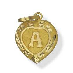 Heart shaped Initial Pendants