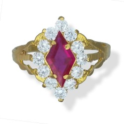 Ladies coloured long C/Z Ring
