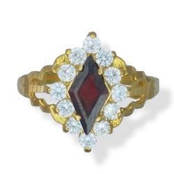 Ladies coloured long C/Z Ring