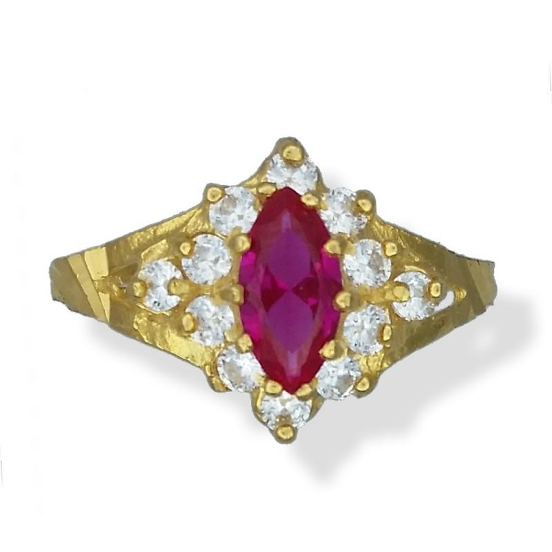 Ladies Marquise-cut Stone Ring