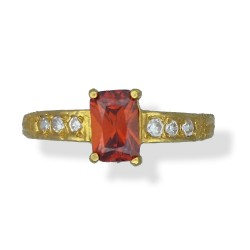 Ladies Emerald-cut Stone Ring