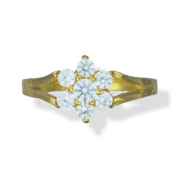 Ladies 7 Stone Cluster Ring