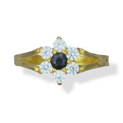 Ladies 7 Stone Cluster Ring