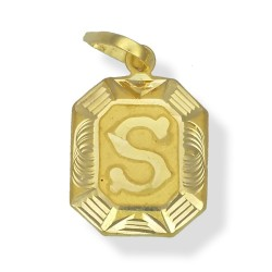 Square Matt Initial Pendants