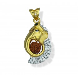Two-tone Ganesh with Rudraksh Pendant