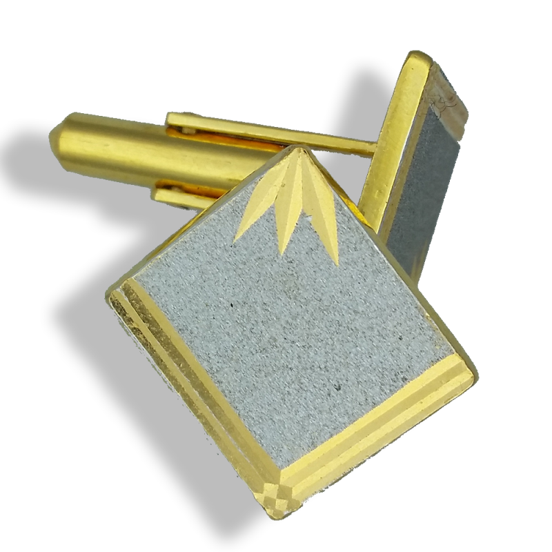 Rhodium and Yellow Gold Cufflinks