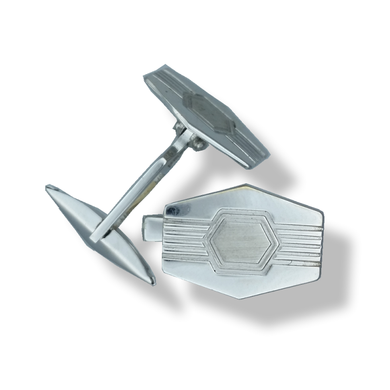18ct White Gold Cufflinks