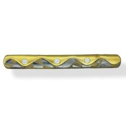 Modern 22ct Gold Tie Clip