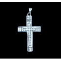 White Gold C/Z Cross Pendant