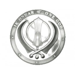 One Ounce Pure Silver Khanda Round Coin
