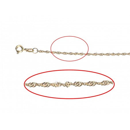 2.4mm Hollow Ripple Chain
