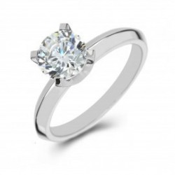 Platinum Solitaire, Open Gallery, 4-Claw Engagement Ring