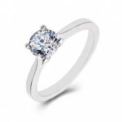 Platinum Solitaire, Split Shank, Open Gallery, 4-Claw Engagement Ring