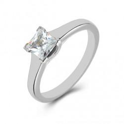 Platinum Solitaire, Princess Diamond Engagement Ring