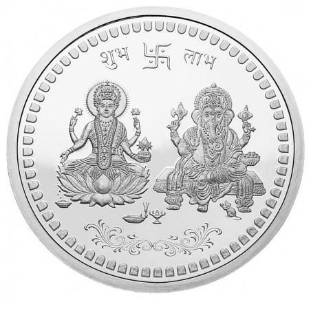 5 grams Ganesh Lakshmi Silver Coin