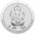 Half Ounce Pure Silver Ganesh Round Coin
