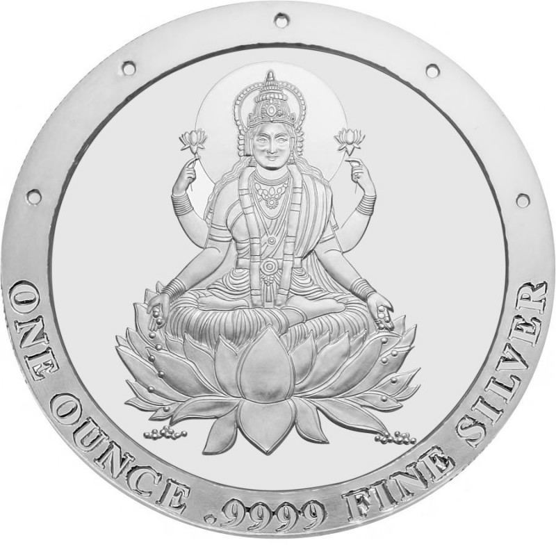 One Ounce Pure Silver Laxmi Round Coin