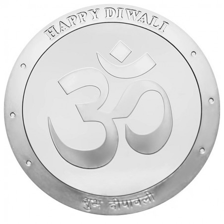 One Ounce Pure Silver OM Round Coin - Diwali