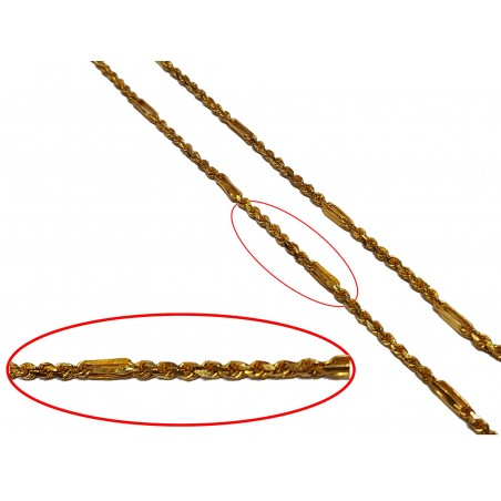 Figaro Style Solid Rope Chain