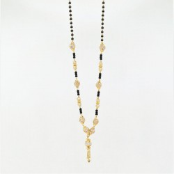 Mangalsutra with C/Z ball pendants