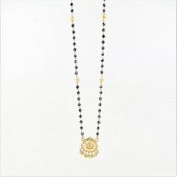 Crystal Bead Mangalsutra with Pendant