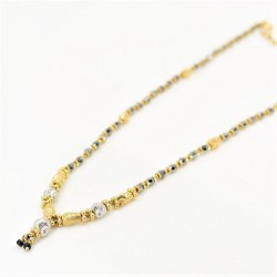 Two-tone Small Drop Mangalsutra - 1