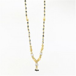 Two-tone Small Drop Mangalsutra - 2
