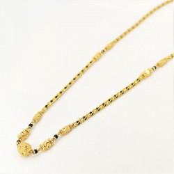 Encased Bead and C/Z Ball Pendant Mangalsutra