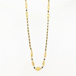 Encased Bead and C/Z Ball Pendant Mangalsutra - 2