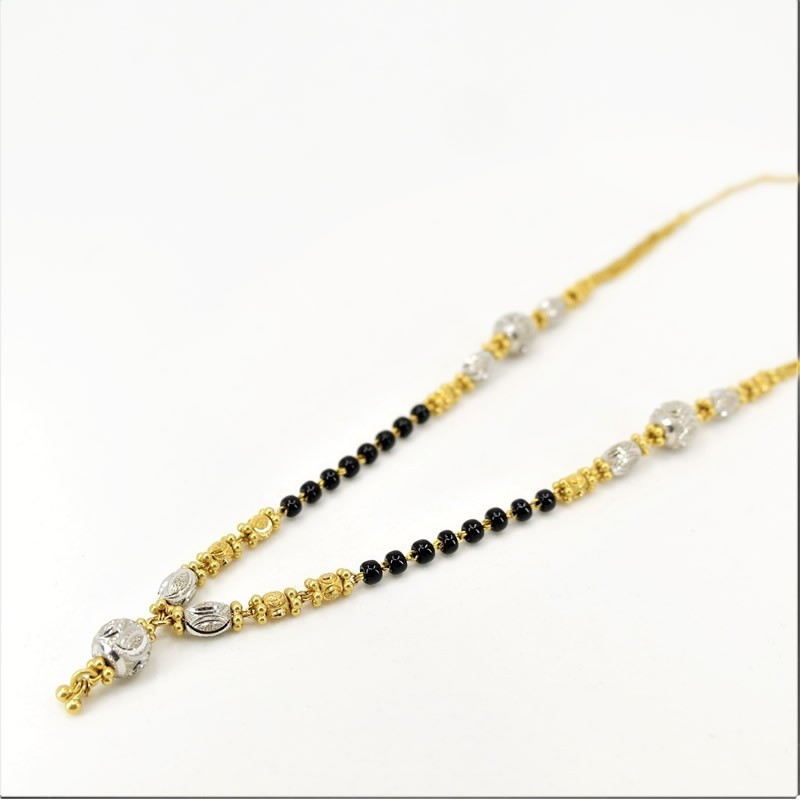 Two-tone with White Gold Drop Mangalsutra