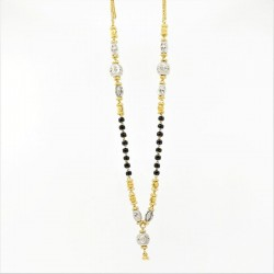 Two-tone with White Gold Drop Mangalsutra - 2