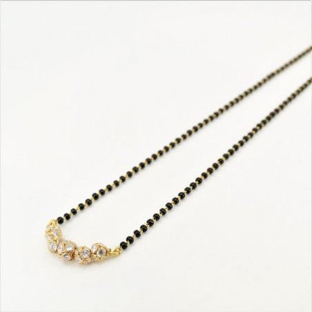Tiered C/Z Ball Pendant Mangalsutra - 1