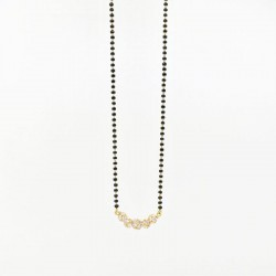 Tiered C/Z Ball Pendant Mangalsutra - 2