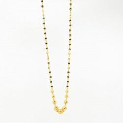 High Polished Gold Bead Mangalsutra