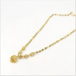 White C/Z ball and Jumar Pendant Mangalsutra - 1