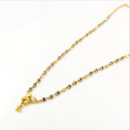 Simple Crystal Bead Mangalsutra - 1