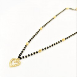 Heart shaped C/Z Pendant Mangalsutra